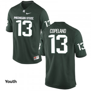 Youth Nike  #13 Replica Green Vayante Copeland Michigan State Spartans Alumni Football Jersey